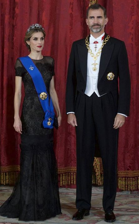 [King Felipe VI and Queen Letizia of Spain's Outfit]