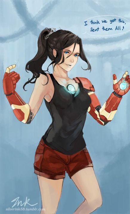Tony Stark's son Male reader x female Avengers - The New