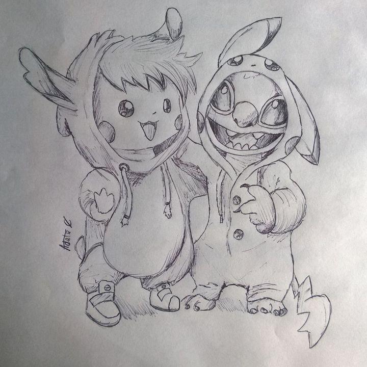 Disegni Petalosi Stitch E Pikachu Wattpad
