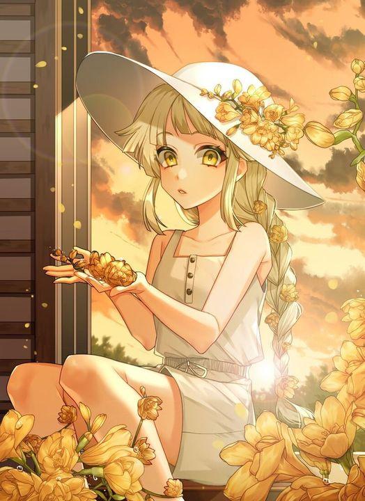 Đọc Truyện Kho Ảnh - Anime Girl Với Hoa Hướng Dương - SamvisLy ...