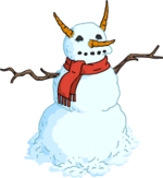 Lastly, she took off her own scarf and wrapped it around the snowman