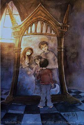 Harry resta ainsi avec eux pendant un long moment, puis pendant pratiquement toutes les nuits et une fois, il réveilla Hermione et lui montra le miroir
