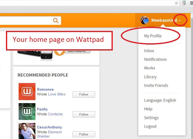 Log in wattpad