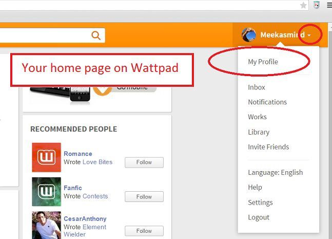 How to create a Wattpad - Sign out - Wattpad