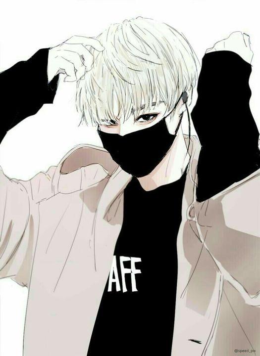 Gambar Anime Cowok Keren Cool Pakai Masker