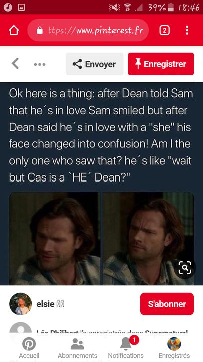 Sam ship totalement le destiel 😂