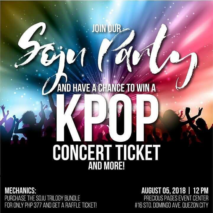 At sa mga a-attend ng Soju Party sa August 5, heto ang para sa inyo: