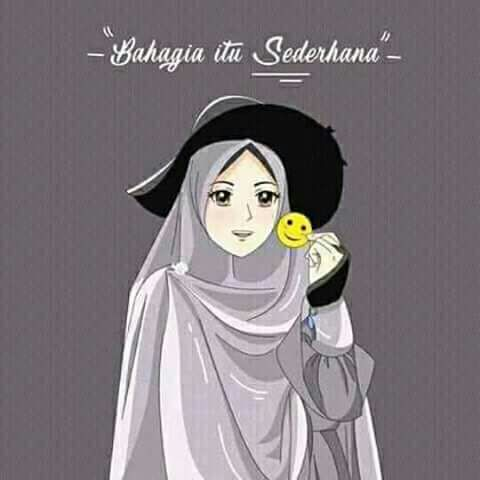 97 Gambar Kartun Muslim Bahagia HD Terbaru