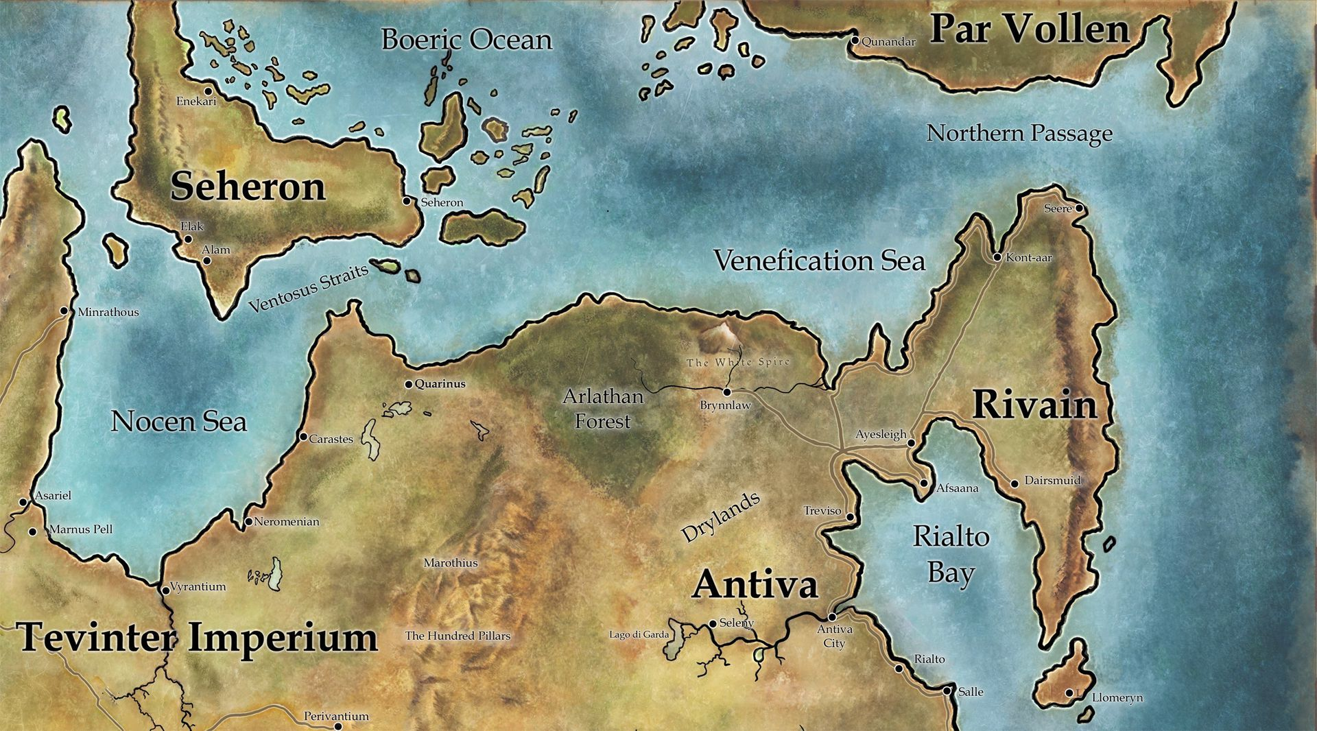 Tamassran Map Of Northeastern Thedas Wattpad