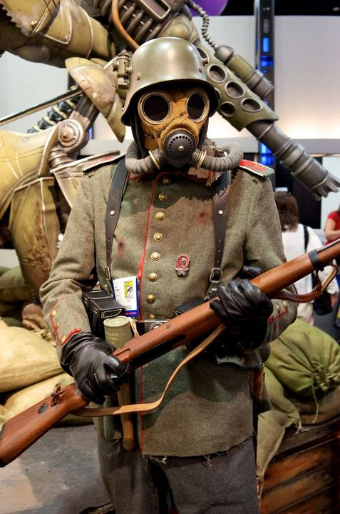 Since the Victorian era had a couple wars (most notably the Civil War in the US, and depending on how far forward you go and still consider it a steampunk, WW1), you're going to run into a lot of military types