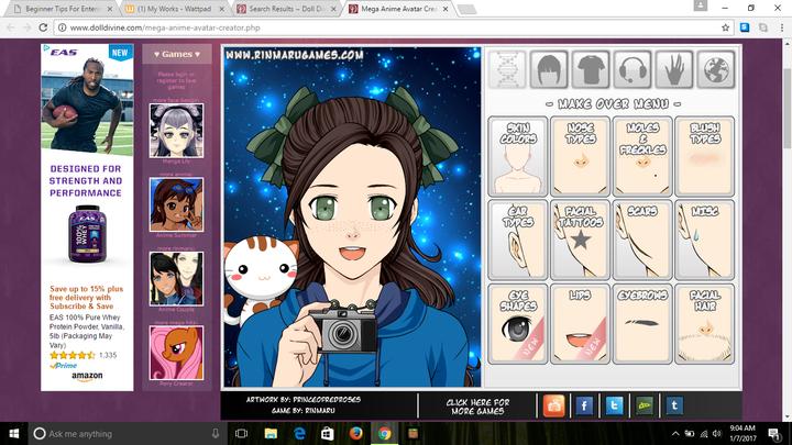 mega anime avatar creator doll divine