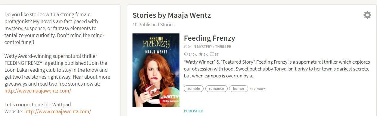 For more information, go to Amazon and search for Maaja Wentz where you will find my Author Central page with books, blog posts, photos etc