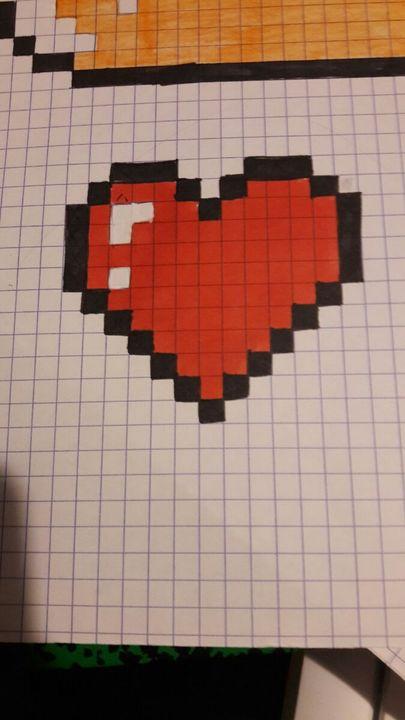 Dessin Pixel Facile Champignon
