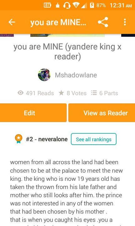 Yandere King X Reader Wattpad