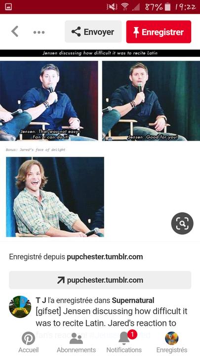 "J'adore quand Jensen dit ""Good for you !"" "