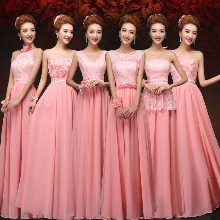 Fantástico Vestidos De Novia Con Acentos De Color Rosa Galería ...