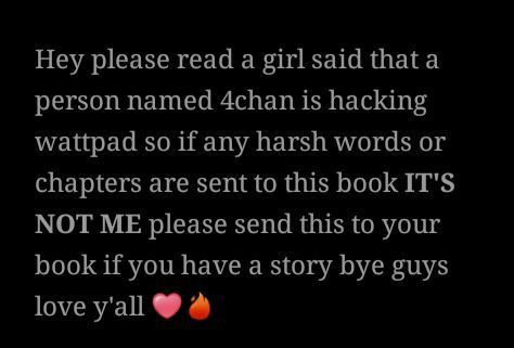 Just incase it is real i just wanted to warn you guys I love you all 💕