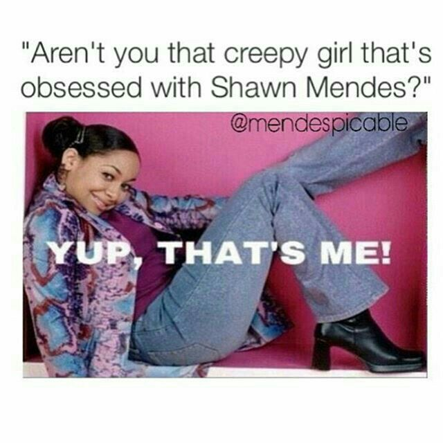 I can't tell you guys enough of how many times people remember me from being obsessed with Shawn