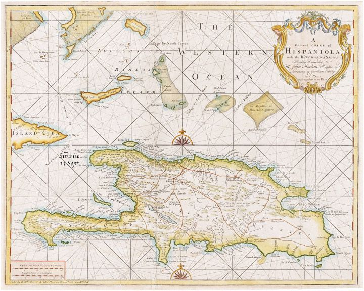 """Charles examined the chart for a short while, then he said, """"I suggest we alter to port to ensure we sight the coast of Cuba and find the cape, Sir"""
