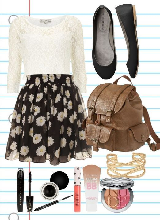 4) Cute Skirt With MORE Flowers