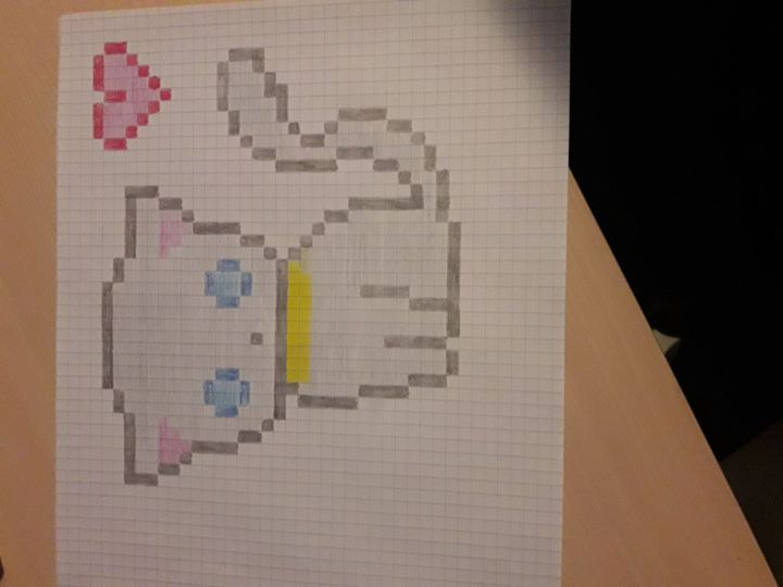 Pixel Art De Chat Kawaii