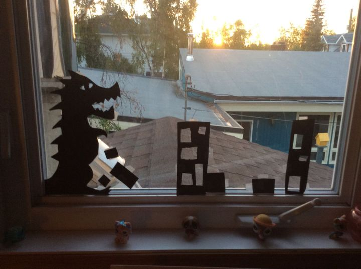 So I made myself a jokey Godzilla skyline-