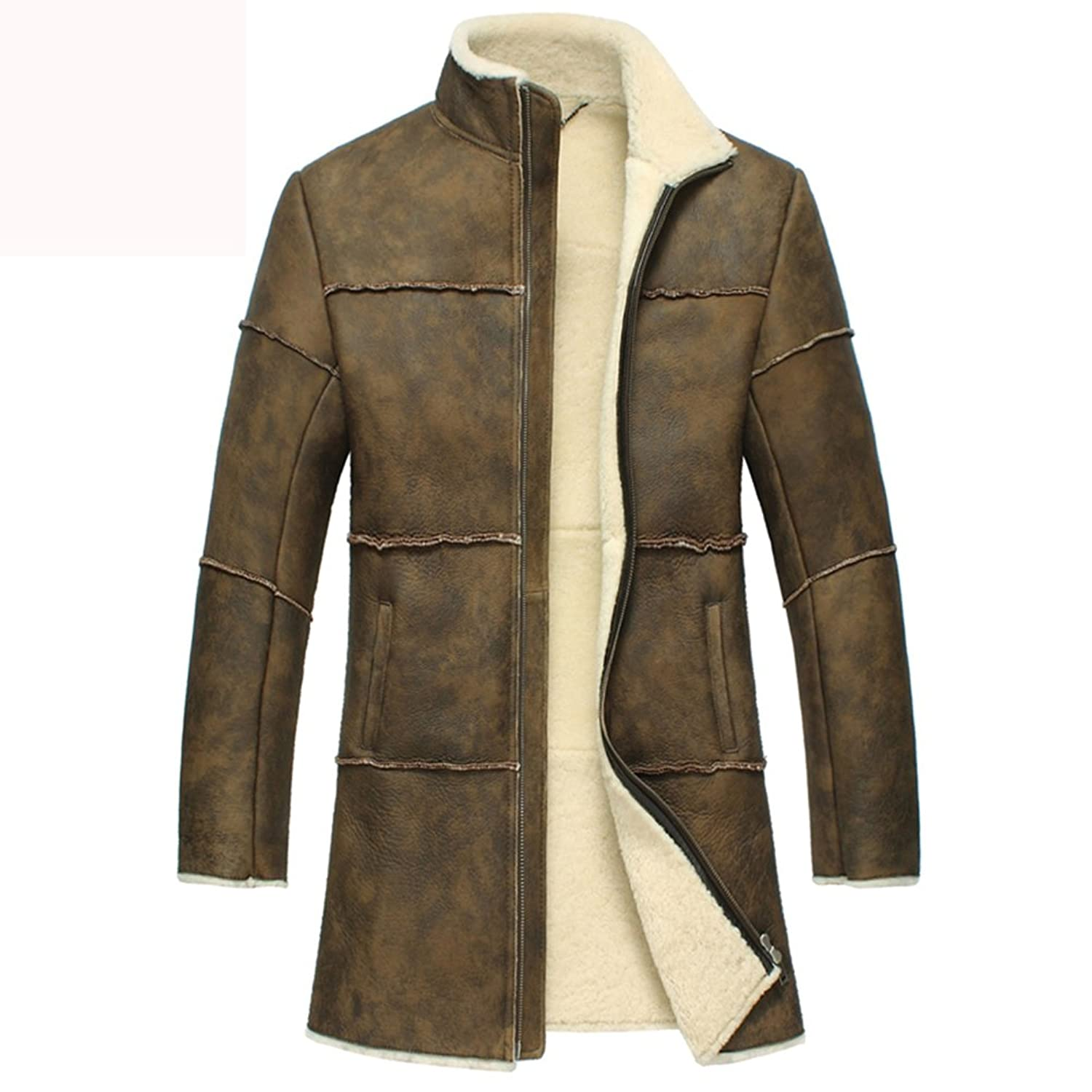 Shearling Coats for Men - Chicago Vintage Shearling Trench Coat