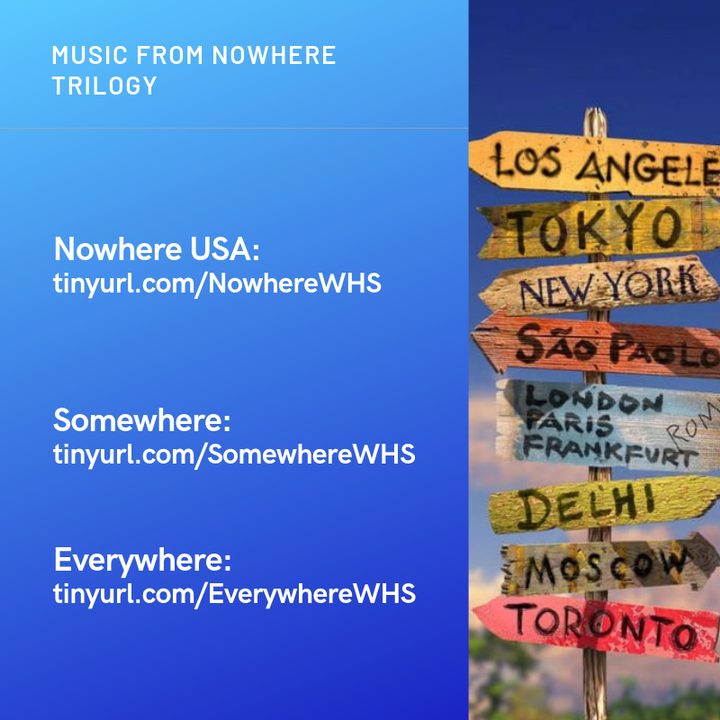 Every chapter in the Nowhere trilogy is inspired by a lyric from a song, and I've put all of the songs together in playlists for each book