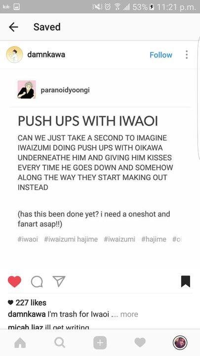 Haikyuu One-Shots And Lemons - -Working out--[Oikawa Tooru x