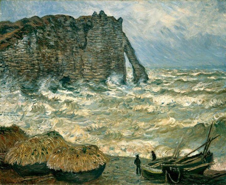"""""""Rough Sea at Etretat"""" - 1883"""