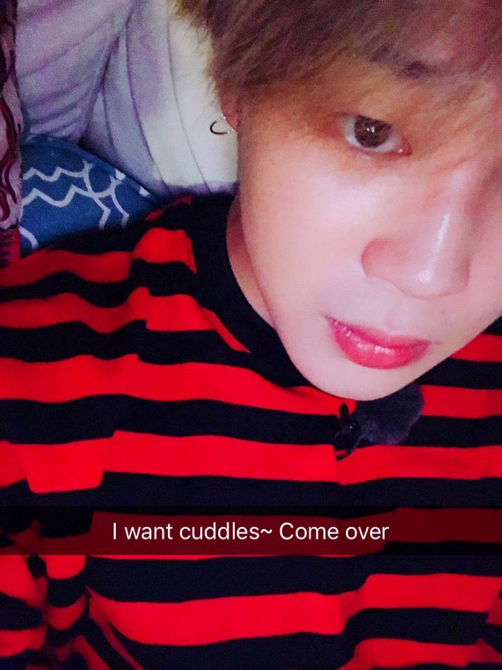 Jimin wanting to cuddle you!