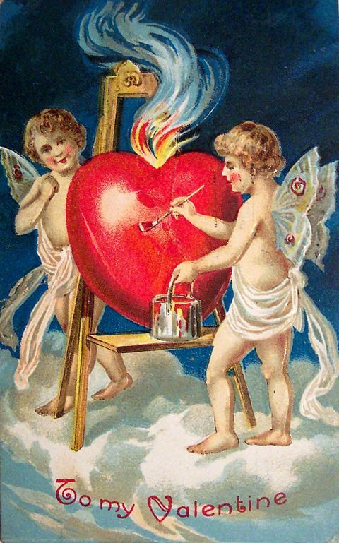 And what better than martyrs and miracles to spawn holidays, provide inspiration, and a reason to celebrate? Here's a Valentine's Day card from 1909, the year before the company that became Hallmark, which was founded by Joyce Clyde Hall and his o...