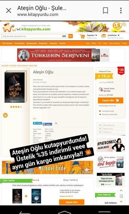 İstanbul'da olmayanlar üzülmesin, çünkü bunun haricinde, kitabımız kitapyurdu, d&r, idefix, babil, bkm kitap gibi birçok sitede, hem kapıda ödeme imkanıyla, hem de %35'e varan indirim fırsatıyla satışlarda!