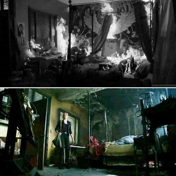 I walked into my old bedroom see that it had been burnt down