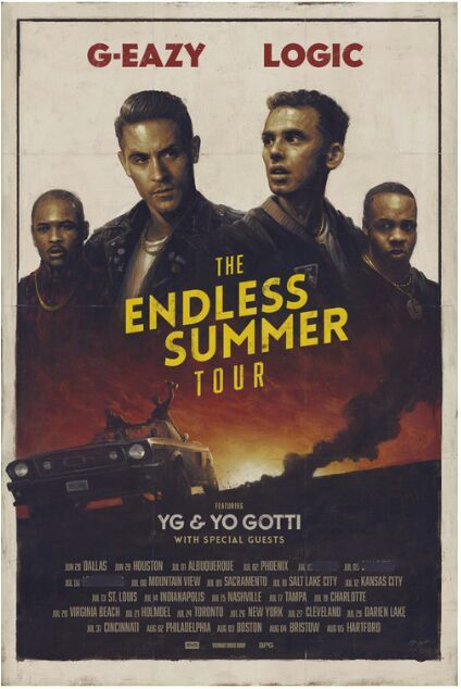 G-eazy had posted something on Instagram so I looked at it, the Endless summer tour