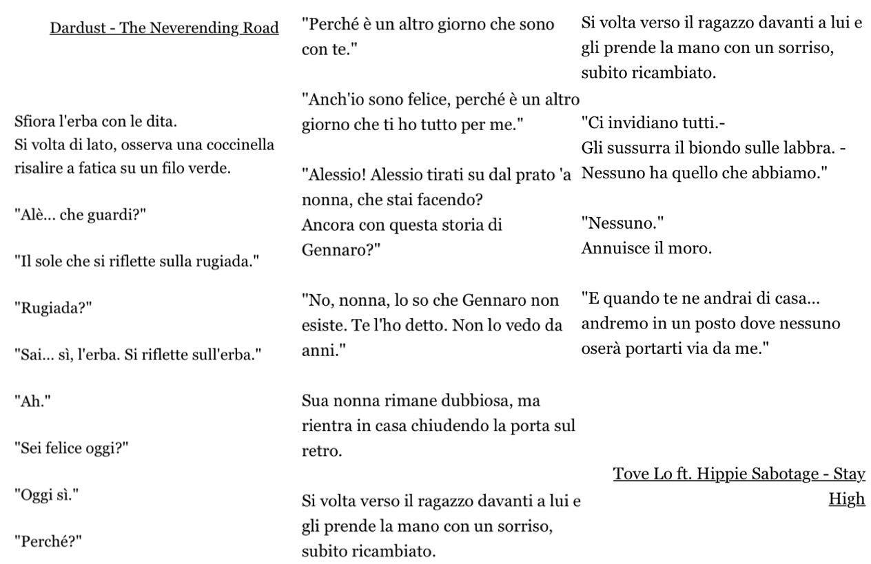 Note iniziali:Ispirato a questa flash scritta per la sfida delle dieci canzoni, la ritrovate appunto in Ten, ma io ve la posto anche qui