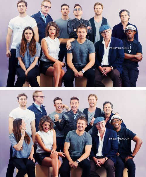 Marvel Cast as in Movies