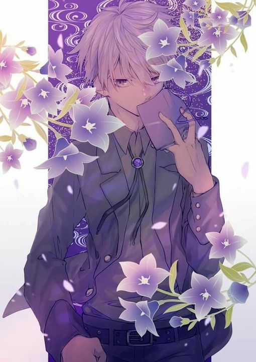 •♤This is how Quincy looks, just with purple hair and blue eyes--♤•