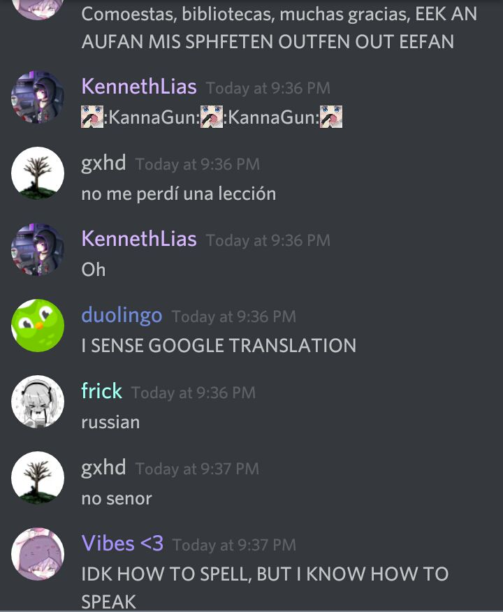 Funny Discord Chats - Duolingo has entered the chat - Wattpad