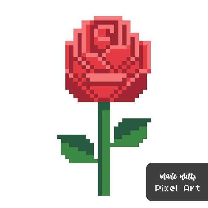 my pixel art - rose - Wattpad