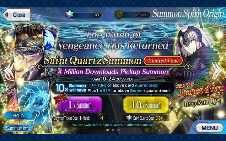 My Journey of playing Fate: Grand Order - Jalter banner
