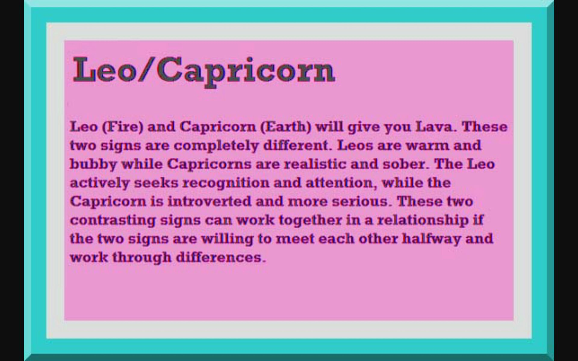 Capricorn compatible zodiac sign