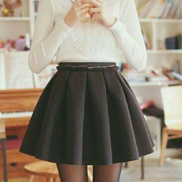Фото модных юбок к школе