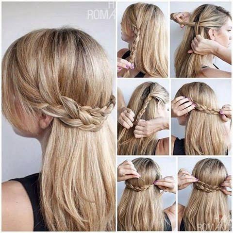 Lo primero que haremos antes de todo es hacer dos trenzas a un lado del cabello