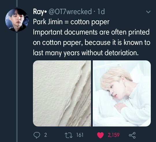 Kim Taehyung as Coated Paper