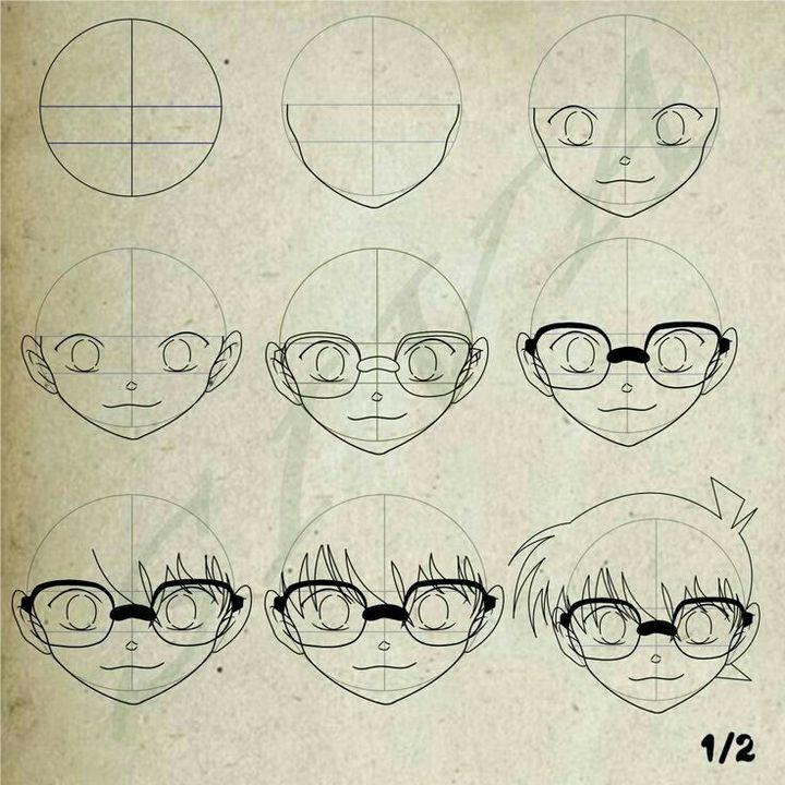 فصل تعليم رسم الانمي رسم المحقق كونان Wattpad