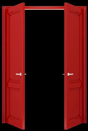 The hall led us from Boone's office past a room marked Records then past a double set of wooden doors painted bright red