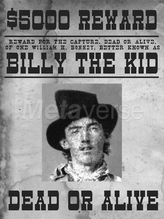 Famous Outlaws - Famous Outlaws and Their Wanted Posters