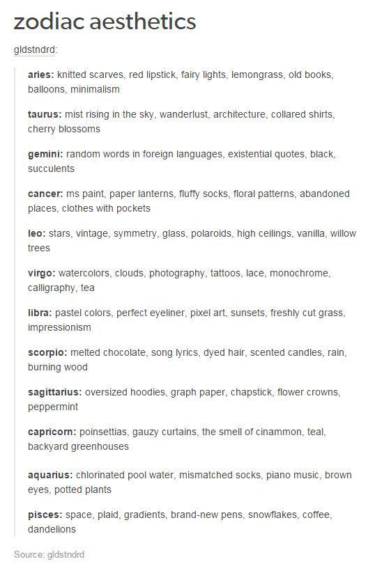 Zodiac Signs 10 Zodiac Aesthetics Wattpad