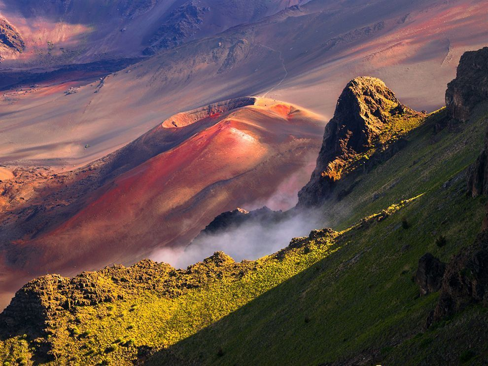 He's seeing a volcano this close up, a live volcano that can blow up at any moment